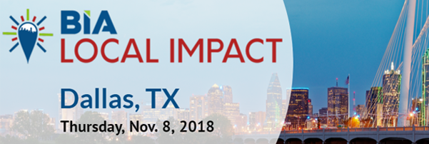 Join just for BIA's LOCAL IMPACT Dallas, 11/8