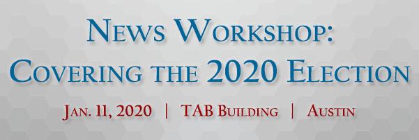 News Workshop: Elections - Register Today!